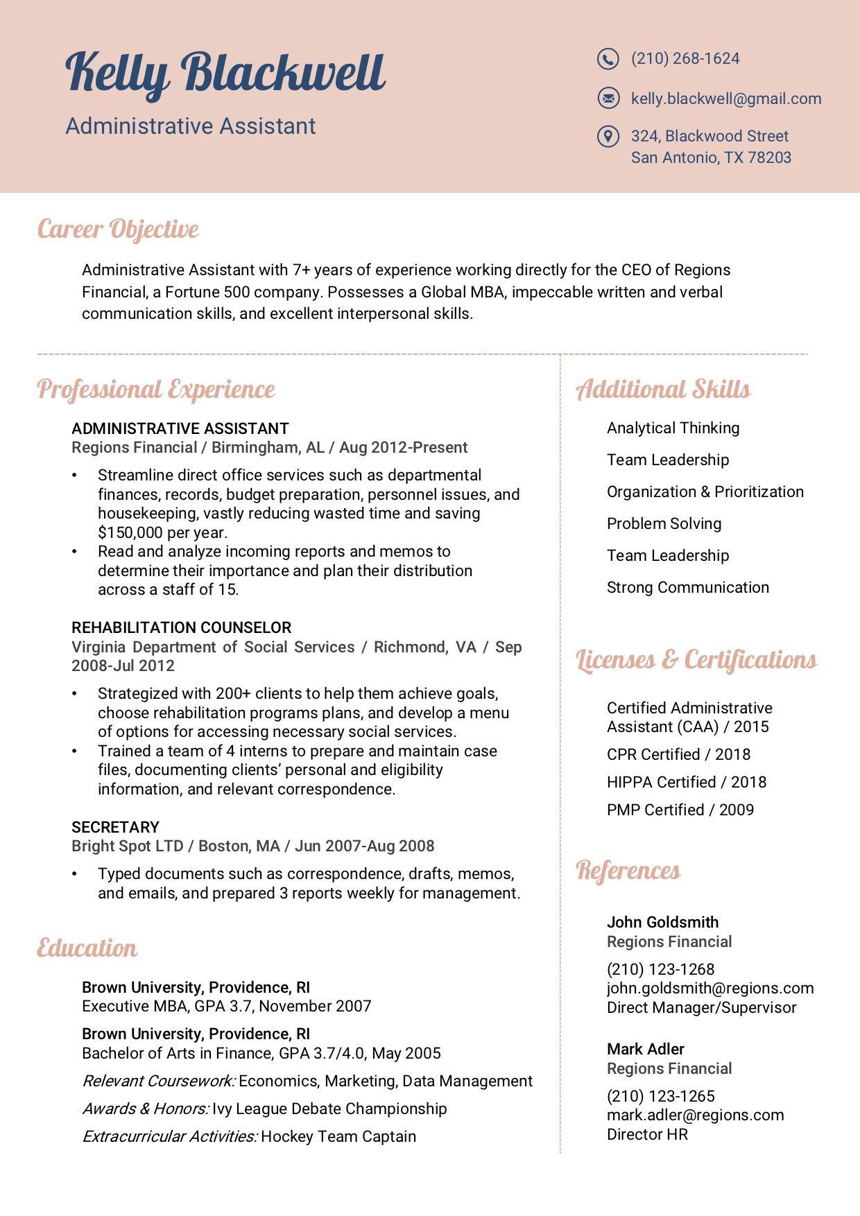 Resume template 8c rc verbal communication skills