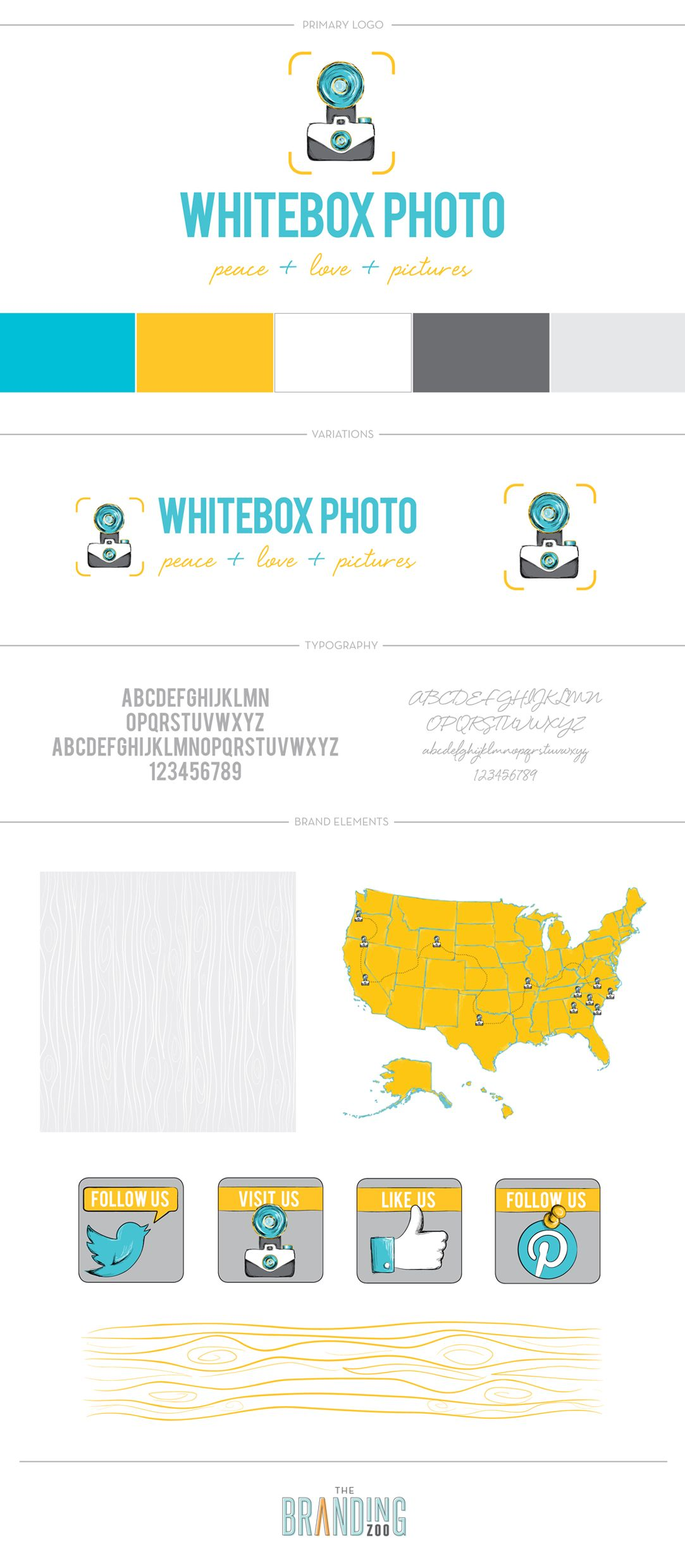 Brand Board for Whitebox Photo //  The Branding Zoo