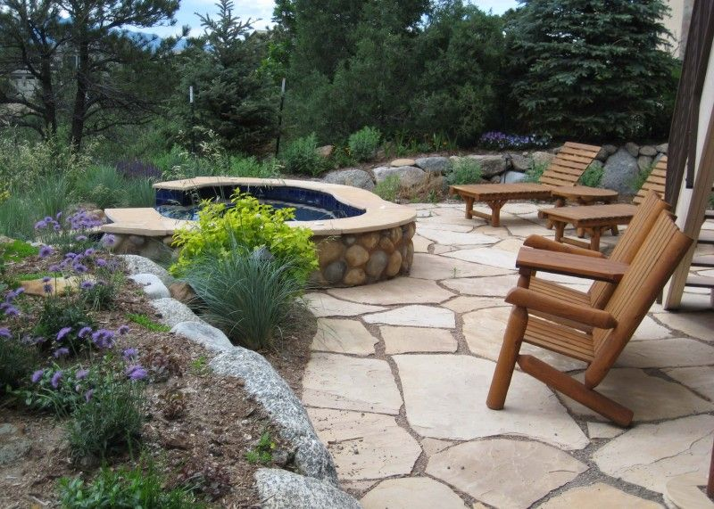 25 great stone patio ideas for your home - Flagstone Patio Pictures Designs