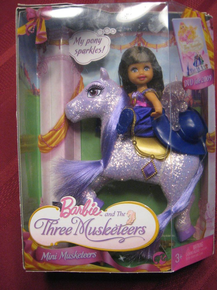 New Barbie And The Three Musketeers Kelly Doll Purple Pony 2008 Barbie Barbie Kelly Dolls