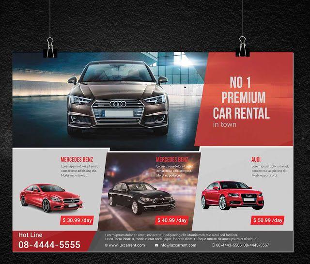 car rental flyer template psd free download