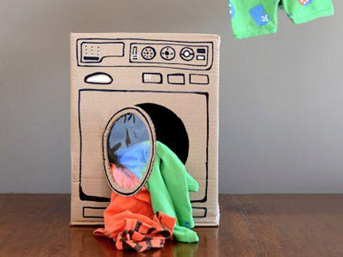 Lavadora De Cartón Descargables Gratis Para Imprimir