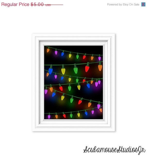 70% OFF SALE Christmas Printable art print by ScubamouseStudiosJr