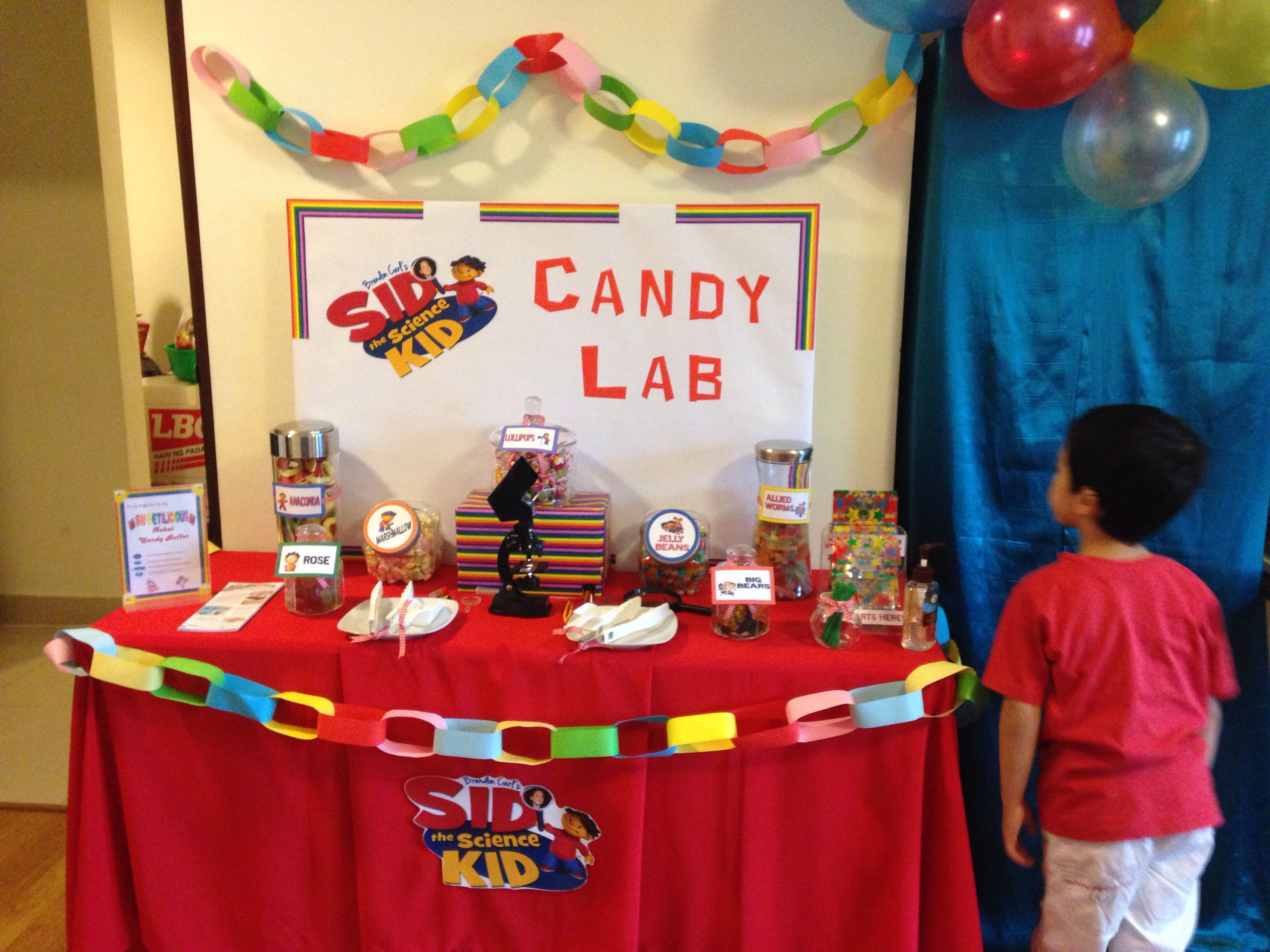 Sid the Science Kid Candy Buffet | Candy Buffet | Pinterest ...