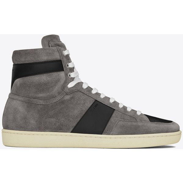 2f68f55796186 Saint Laurent Signature Court Classic Sl 10h Sneakers ( 650) ❤ liked on  Polyvore featuring men s fashion