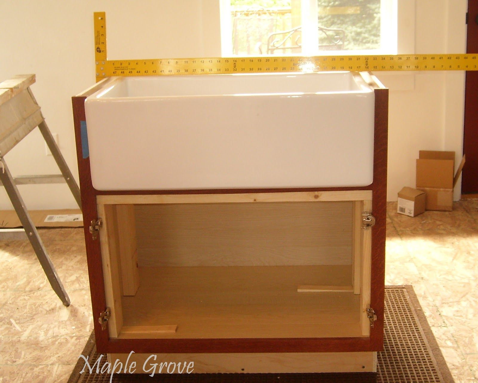 How To Build A Support Structure For Farm House Sink Farmhouse