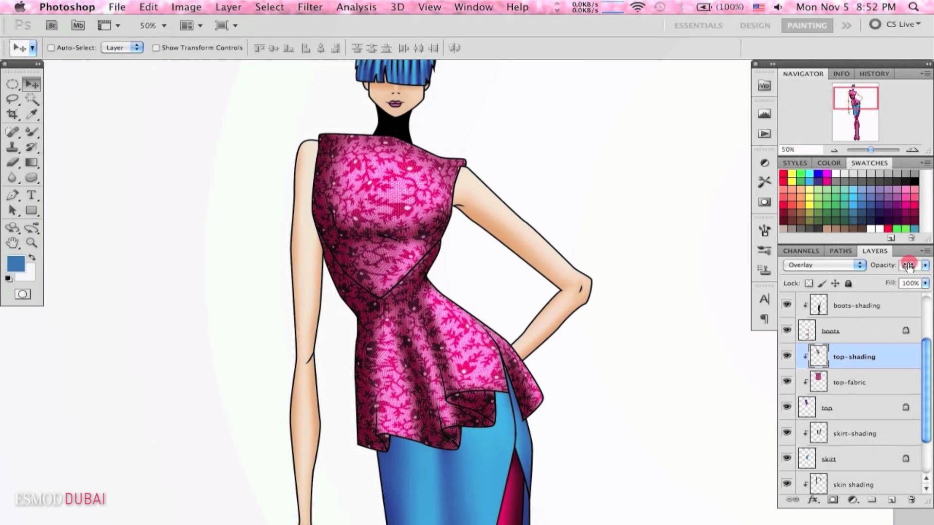 Fabric Photoshop Rendering Digital Fashion Illustration Fashion Illustration Digital Fashion Design