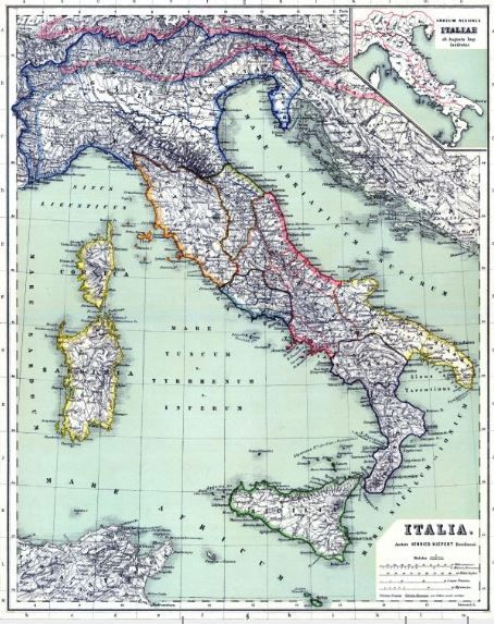 Italia 1898 #map #maps #historic #old #italian #italia #italy - copy world map with ocean trenches