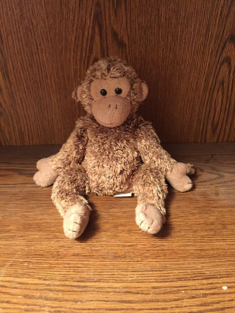 Ty Brand Beanie Baby Bonsai The Monkey Year 2002 Tan Fur Used No Tag Ty Baby Beanie Beanie Teddy