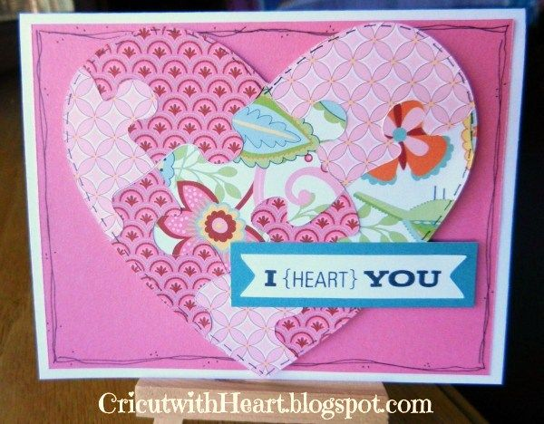 Cricut with Heart: Puzzle Heart Card