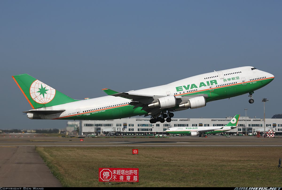 EVA Air B16411 Boeing 74745E aircraft picture 飛行機