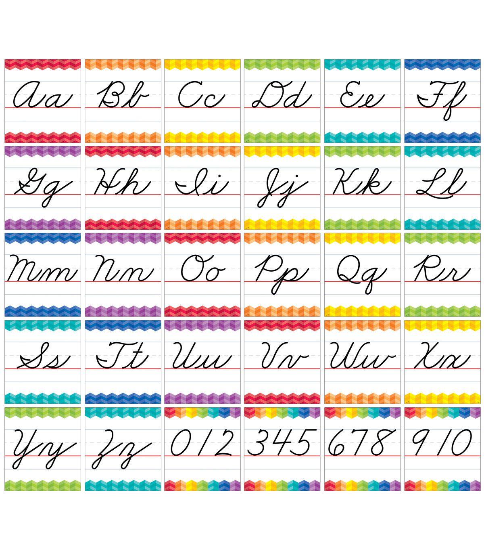 Painted Palette Cursive Handwriting Alphabet Bulletin