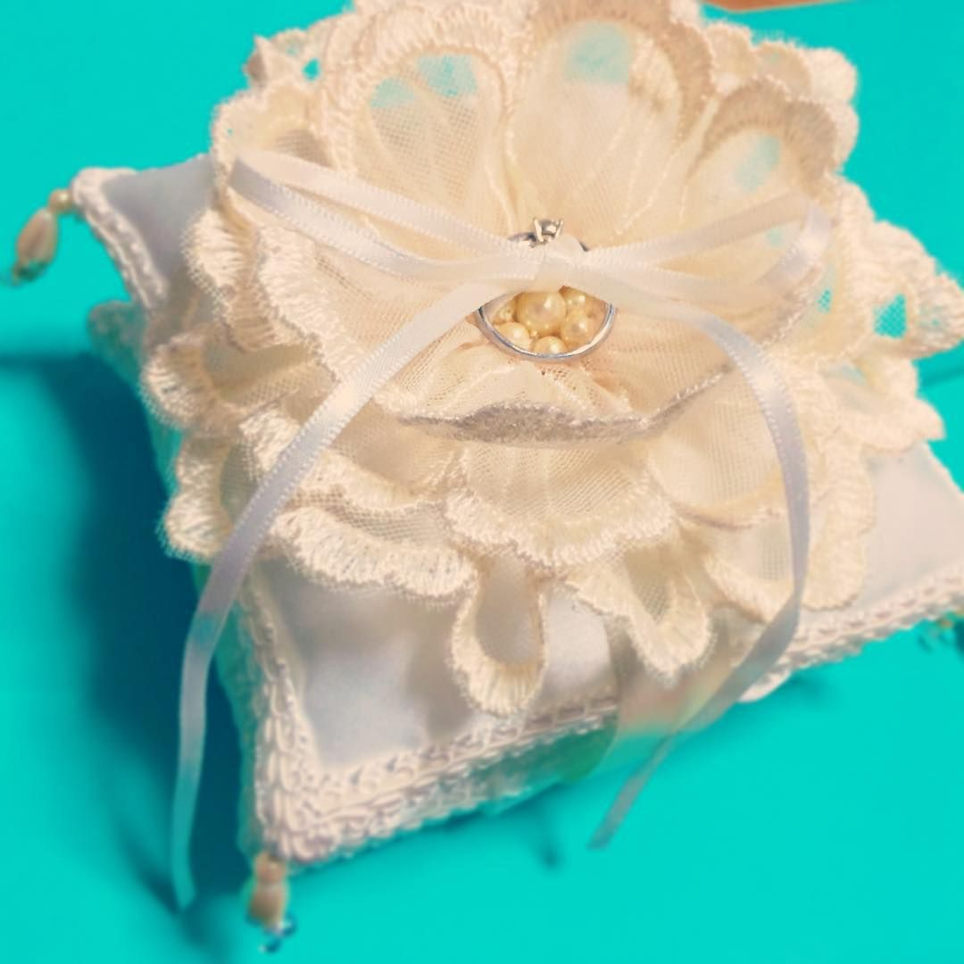 インスタで見つけたDIY♡プレ花嫁さん手作りの可愛すぎるリングピローまとめ* | marry[マリー]