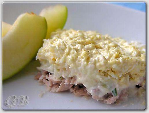 Салат со скумбрией консервированной