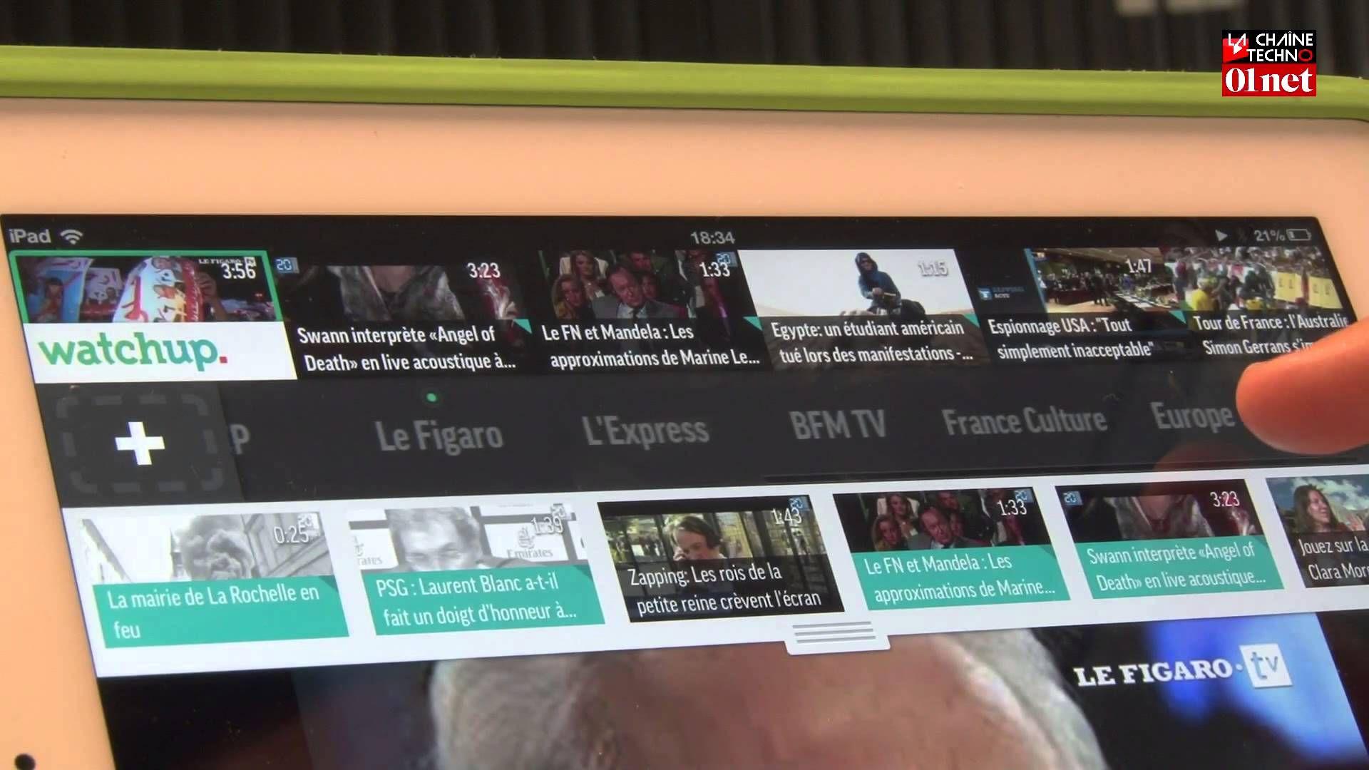 Watchup, l'appli vidéo qui réinvente le JT (04/07) (avec