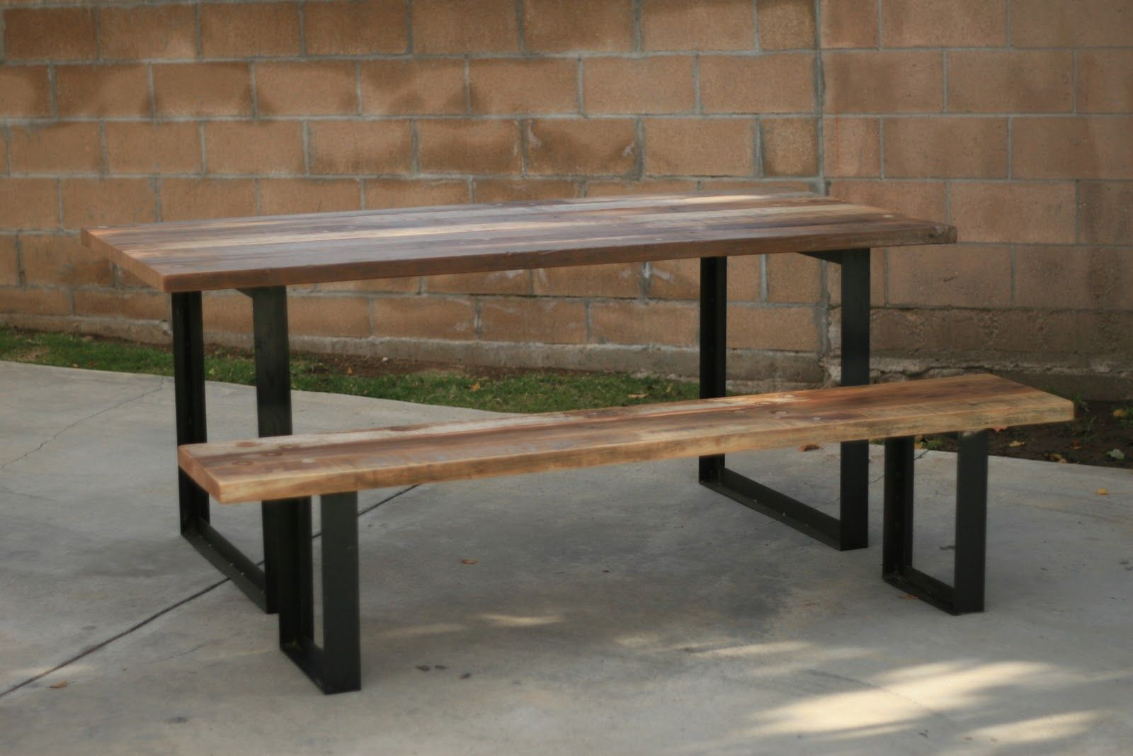 wooden benches for kitchen tables  Outdoor Table  Bench