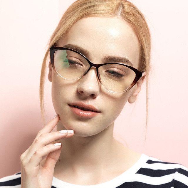 30fd438dd73 Chashma Brand TR 90 Eyeglasses Quality Cat Eyes Stylish Optical Glasses  Frame for Women