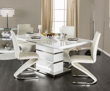 Veronica Extending Dining Table With Four Chairs Modern Dining Table Contemporary Dining Table Dining Room Table Set