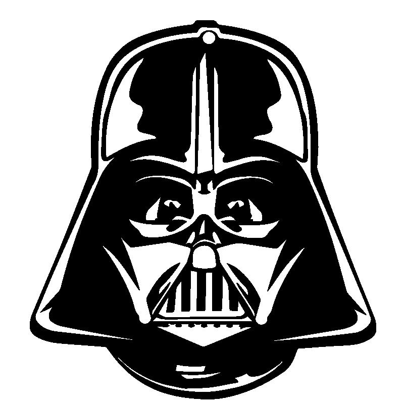 Vinilo Star Wars Casco Dark Vader Engraving Star Wars