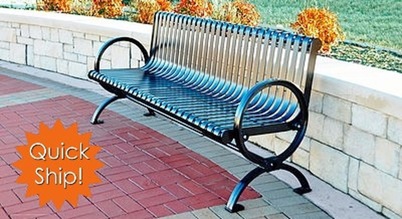 Commercial Park Benches For All Outdoor Settings Best Prices At Noahsplay Co Park Equipment Steel Bench Noah S Park