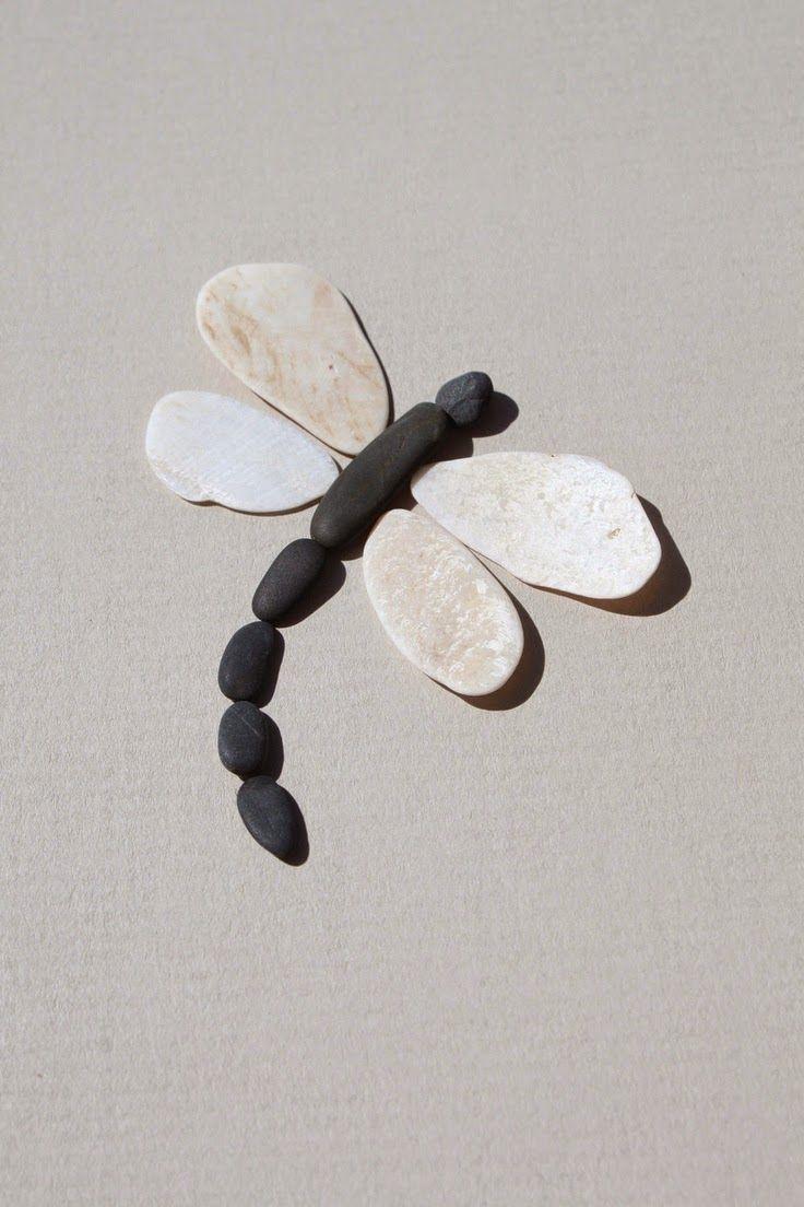 Quiero m s dise o hermoso arte con piedras de r o - Manualidades con piedras de playa ...