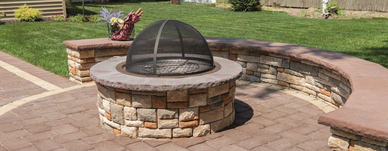 Cast Stone Wall Round Fire Pit Kit Round Fire Pit Cast Stone Wall Fires