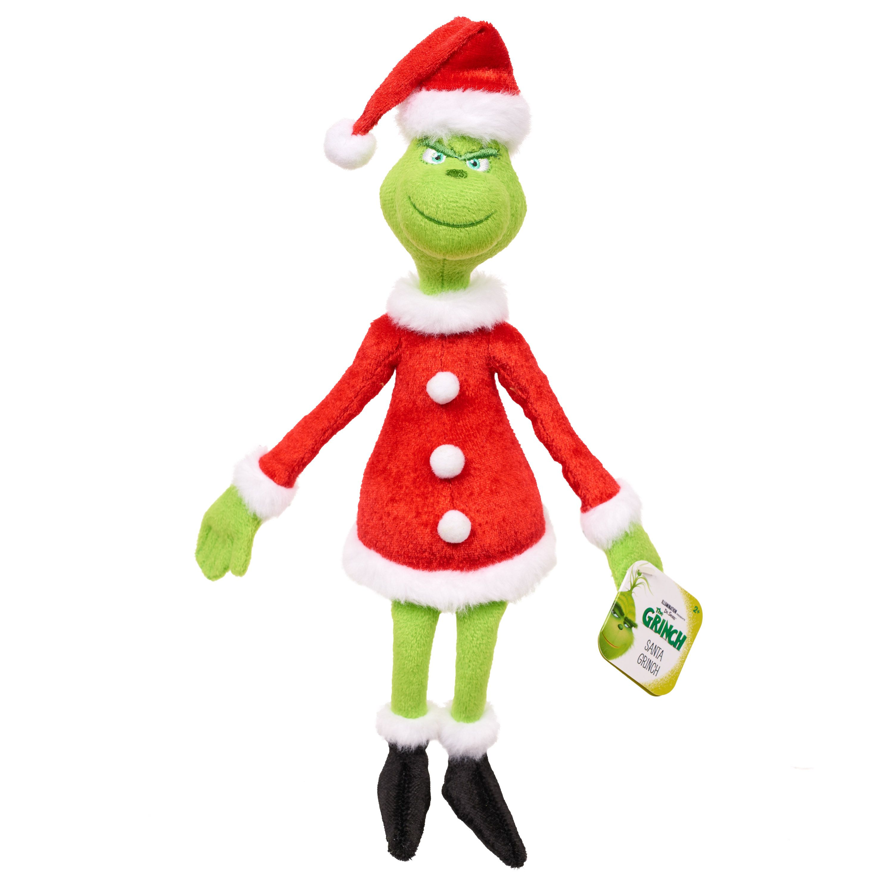"""Dr Seuss How the Grinch Stole Christmas with Santa Hat 15/"""" Plush Toys Xmas"""