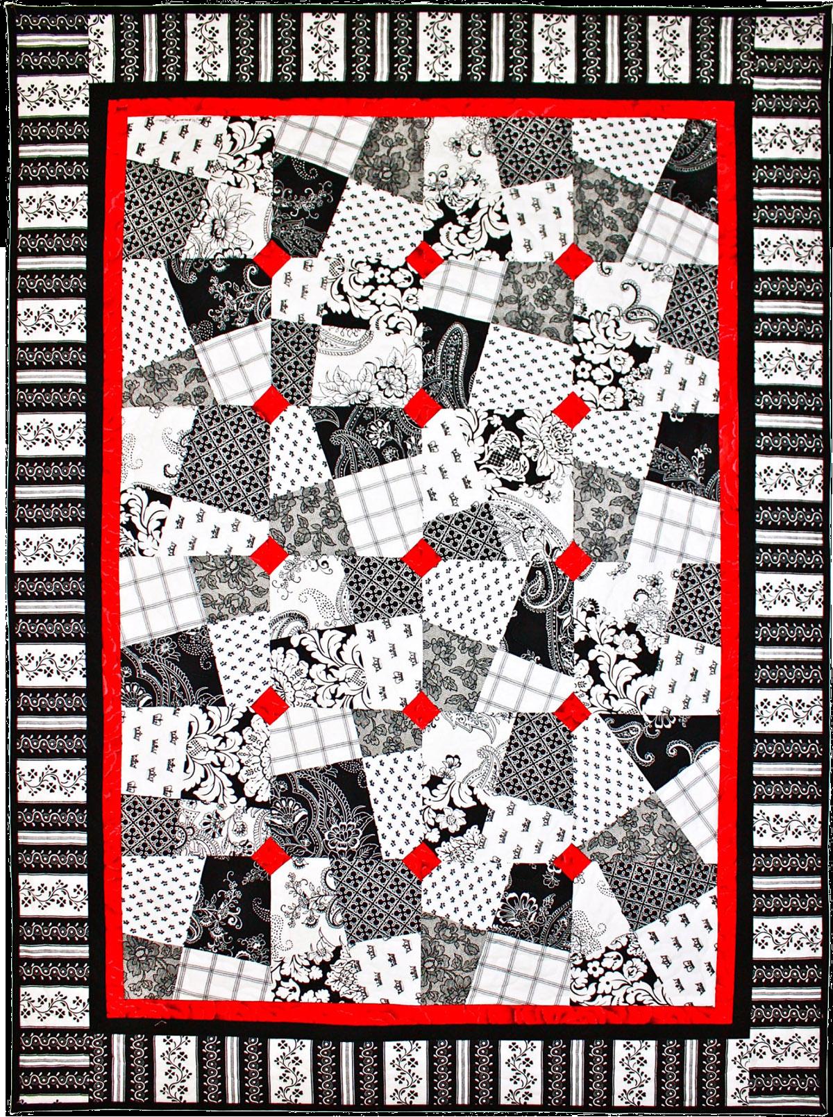 Black White Amp Red Allover Free Quilt Patterns Get