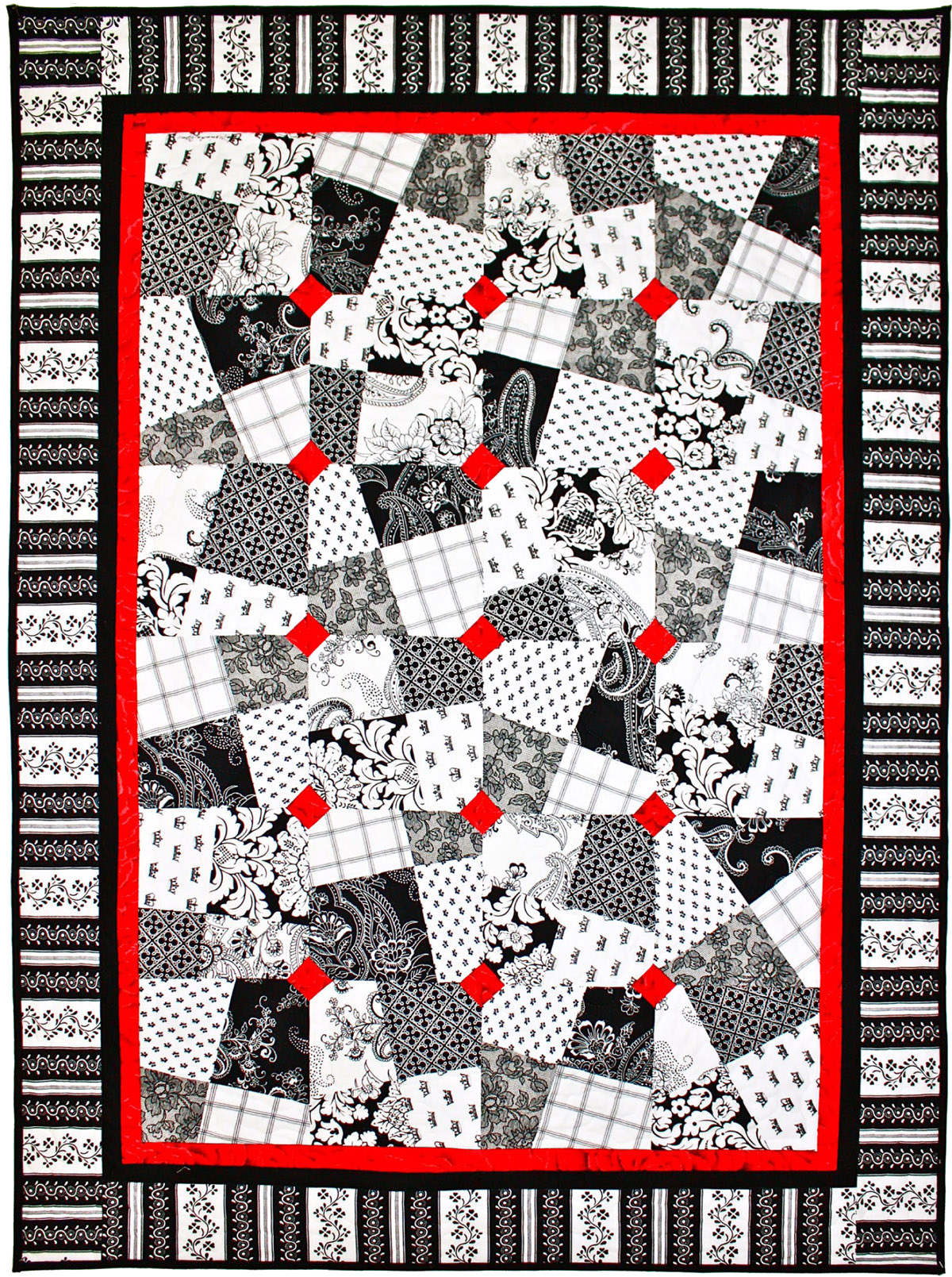 Red And Black Quilt Patterns : black, quilt, patterns, BLACK,, WHITE, ALLOVER, QUILT, PATTERNS, INSPIRED, Quilts,, Black, White, Quilt, Patterns