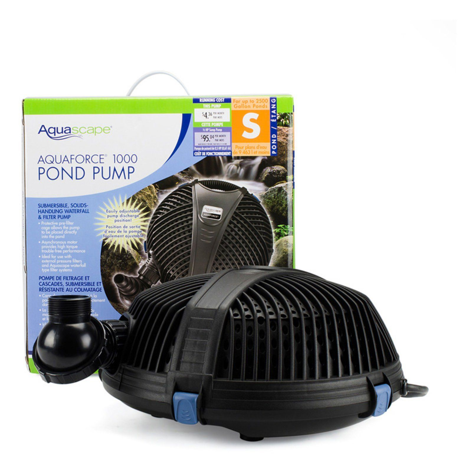 Aquascape Aquaforce 1000 Gph Waterfall And Filter Pump With Images Pond Pumps Pond Waterfall Pump Aquascape