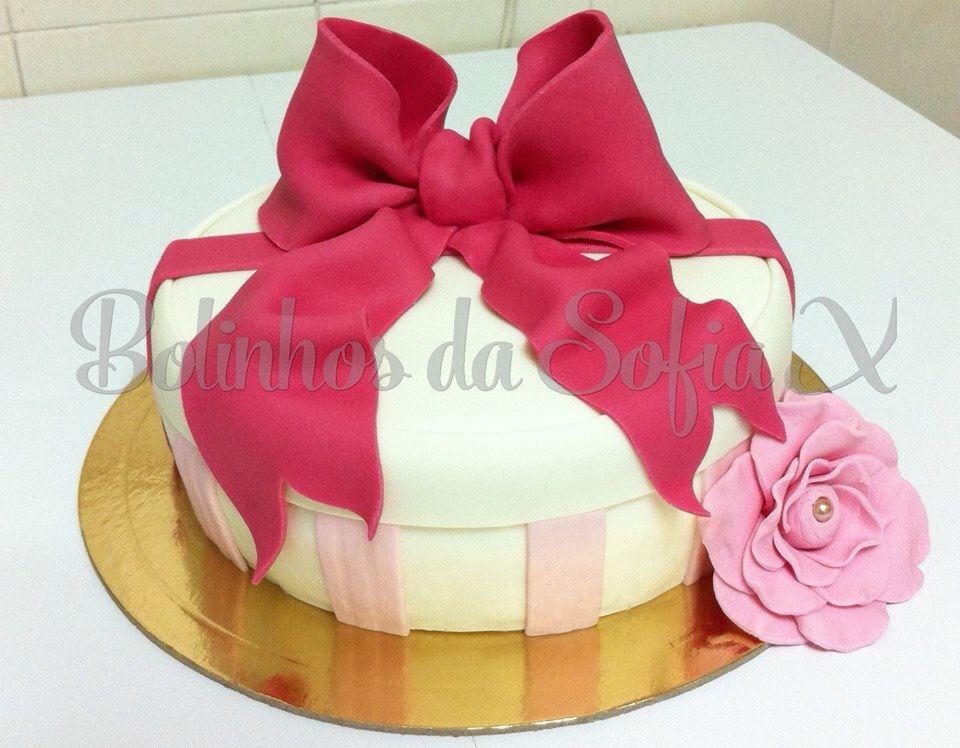 Bow cake # bolo com laço