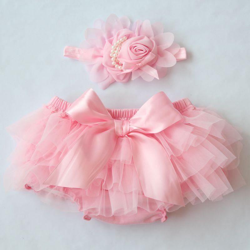Newborn Flower Shorts Toddler fashion Clothing Baby Cotton Chiffon Ruffle Bloome