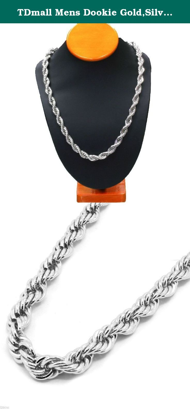 Tdmall Mens Dookie Gold Silver Black Plated Steel Necklace Rope Chain 10mm 30 Inch Rope Chain14k Plated Stainless Ste Steel Necklace Chains Necklace Necklace