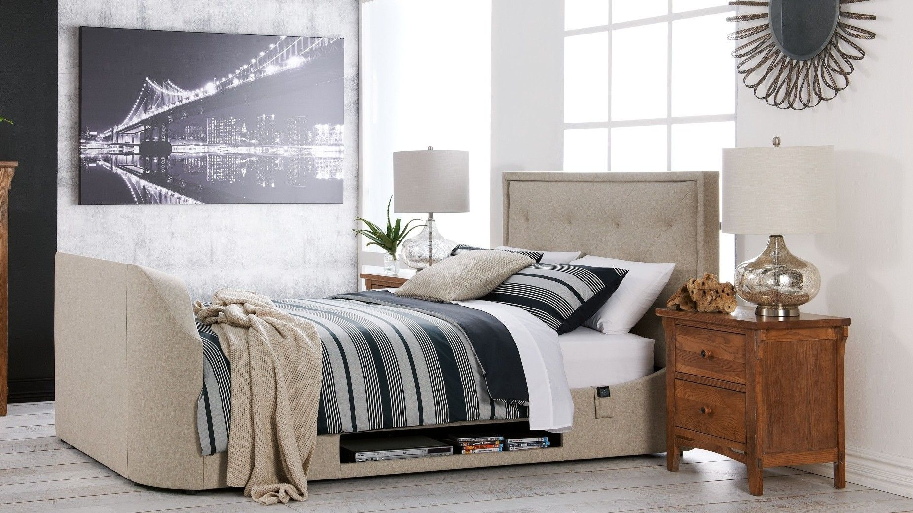 The Estates Media Queen Bed Is Ideal For Media Lovers And Is