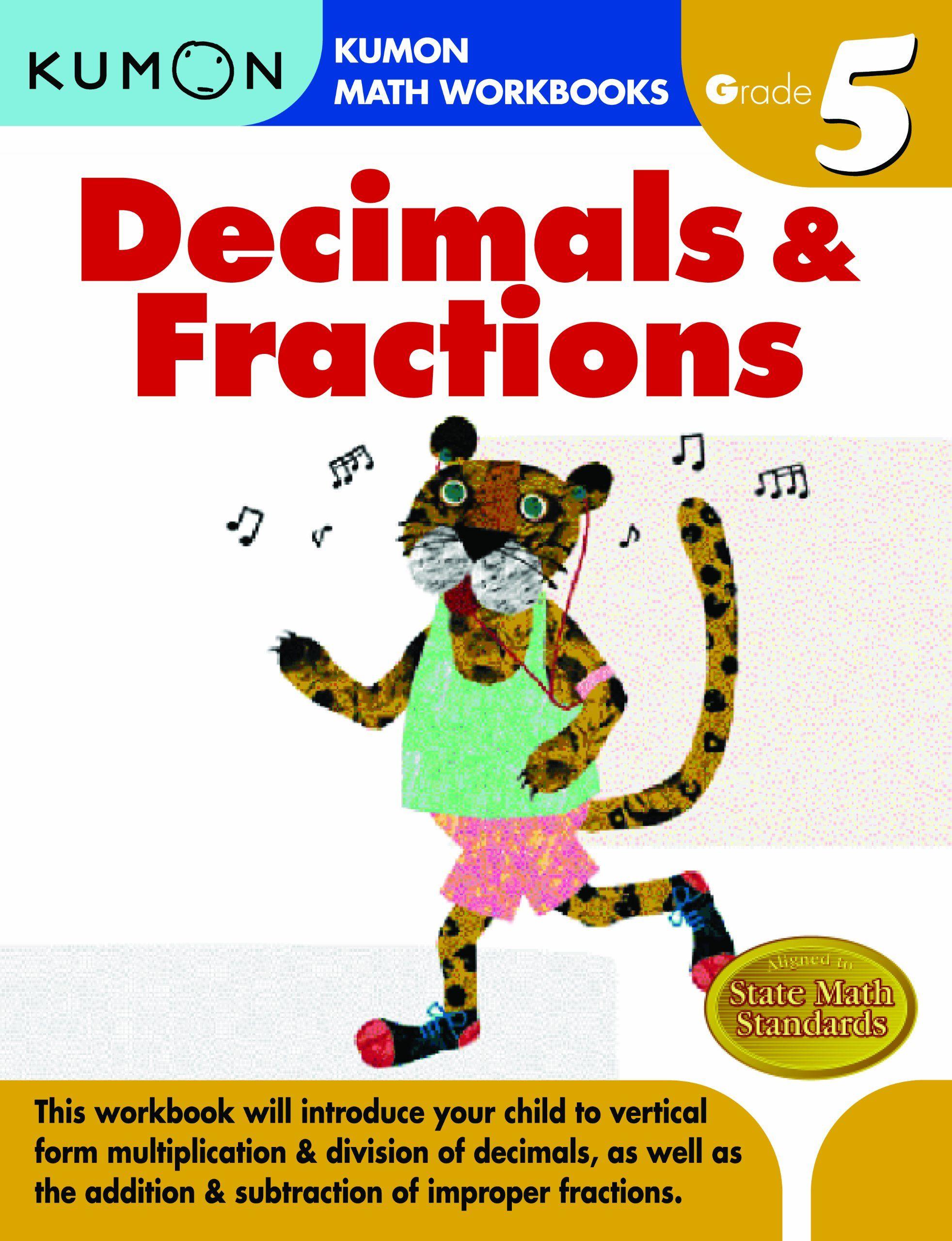 Grade 5 Decimals Amp Fractions Kumon Math Workbooks Price