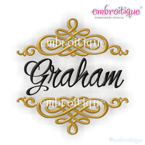 Font Frames Set - 8 of our Best Selling Machine Embroidery Monogram ...