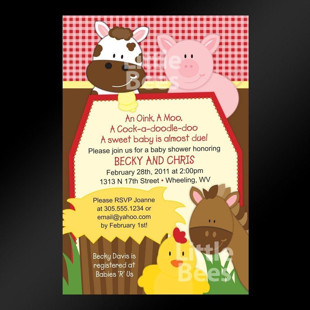 Printable Farm Birthday Invitations Free | Maybe 2year old ...