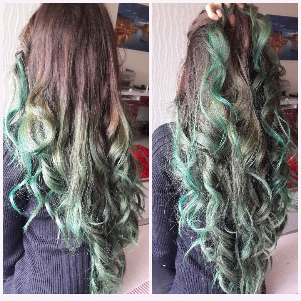 Brown To Alpine Green Ombre Hair Color Hair Appreciation