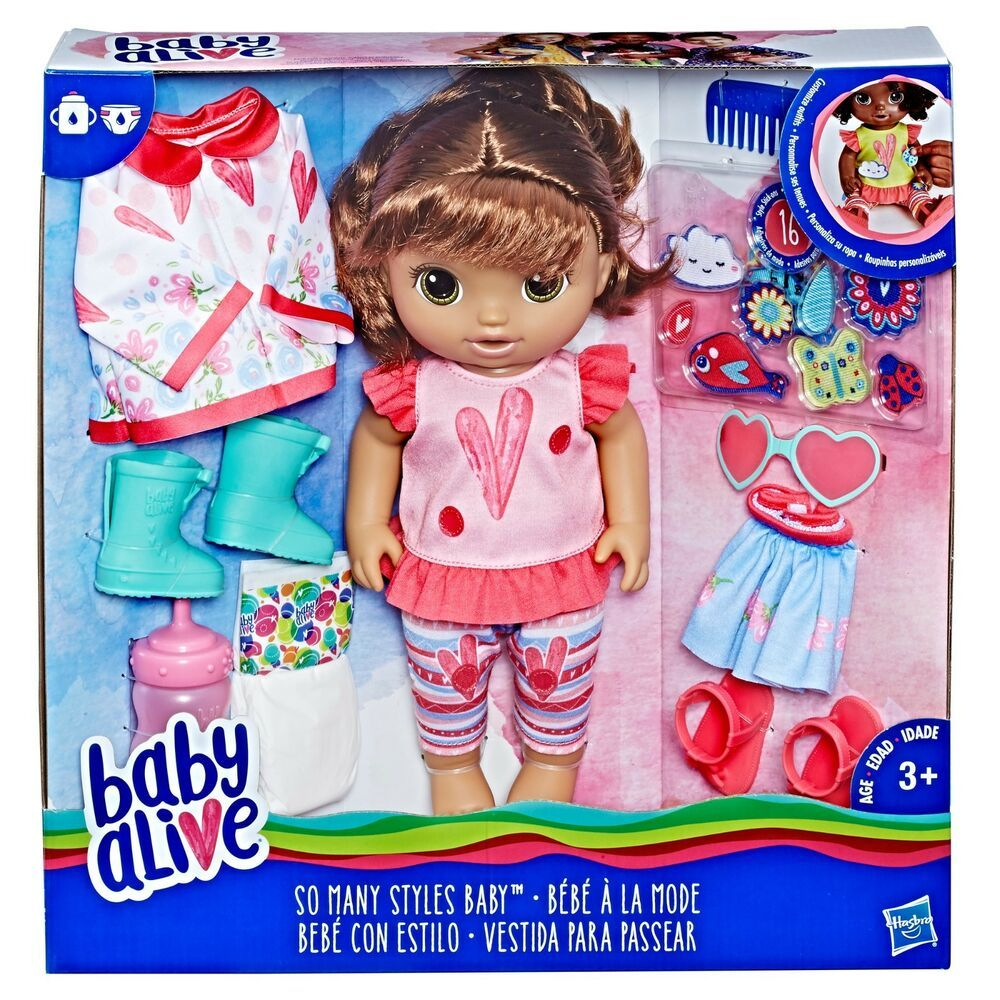 Baby Alive So Many Styles Baby Brown Hair Drinks Her Bottle Wets Her Diaper Hasbrobabyalive In 2020 Baby Alive Dolls Baby Alive Magical Scoops Baby Doll Nursery