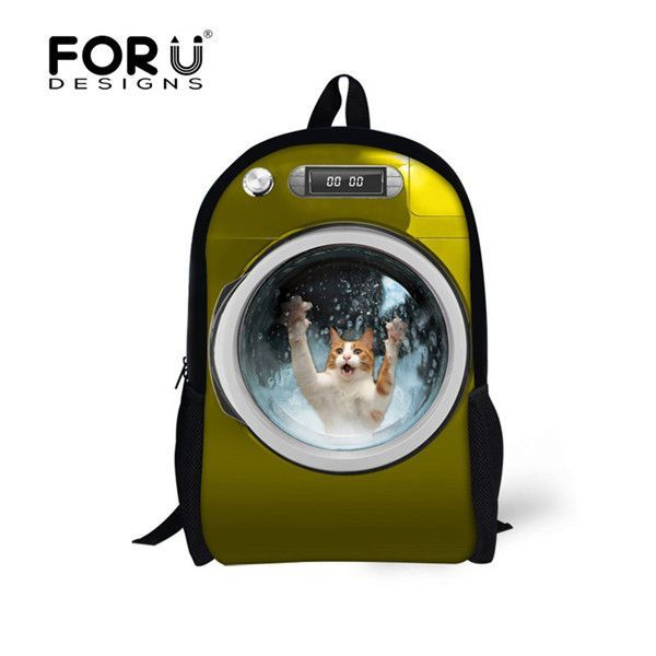 FORUDESIGNS Cute Backpack for Primary School Students Animal Dog Cat Pattern  School Bag Girls Boys Shoulder Backpacks Sac Enfant 59d7c9129d36a