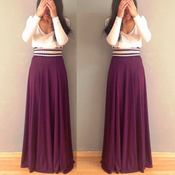 62a1f140c Resultado de imagen para falda largas bonitas | Faldas | Faldas ...