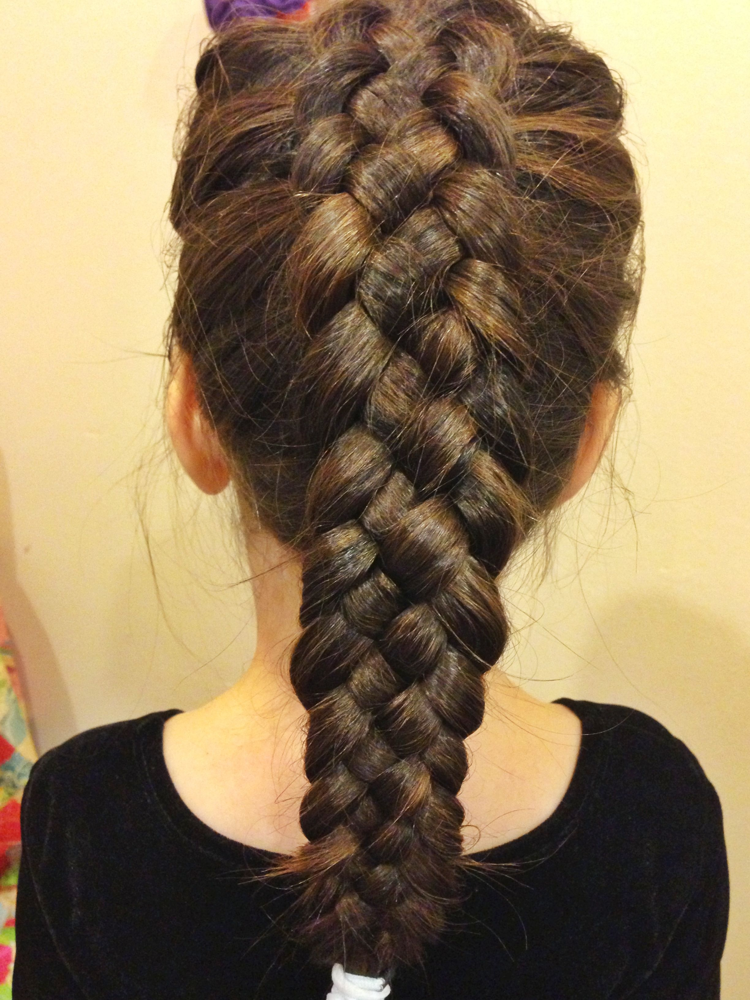 Easy 5 strand French braid   hair and beauty   Pinterest   French     Easy 5 strand French braid
