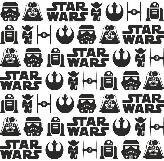 Star Wars Pattern Embossed Rolling Pin Engraved Rollingpin Adorable Star Wars Pattern