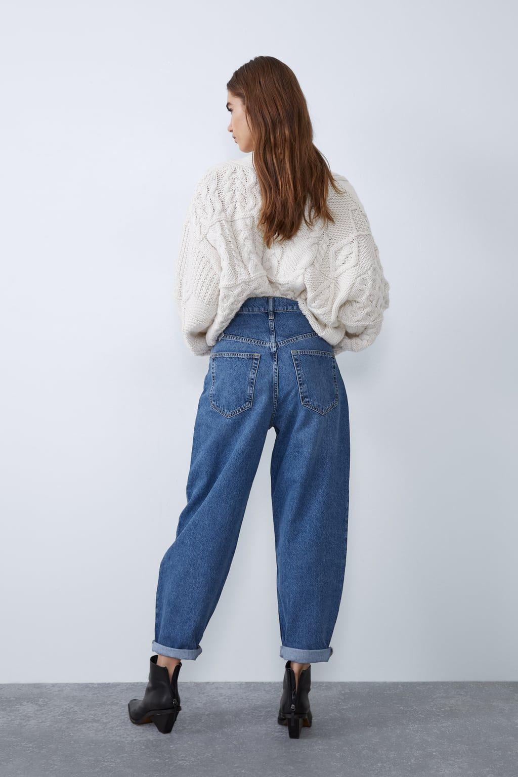 Jean Souple Slouchy Jeans Trf Zara France Moda Para Mujer Casual Pantalones De Moda Ropa