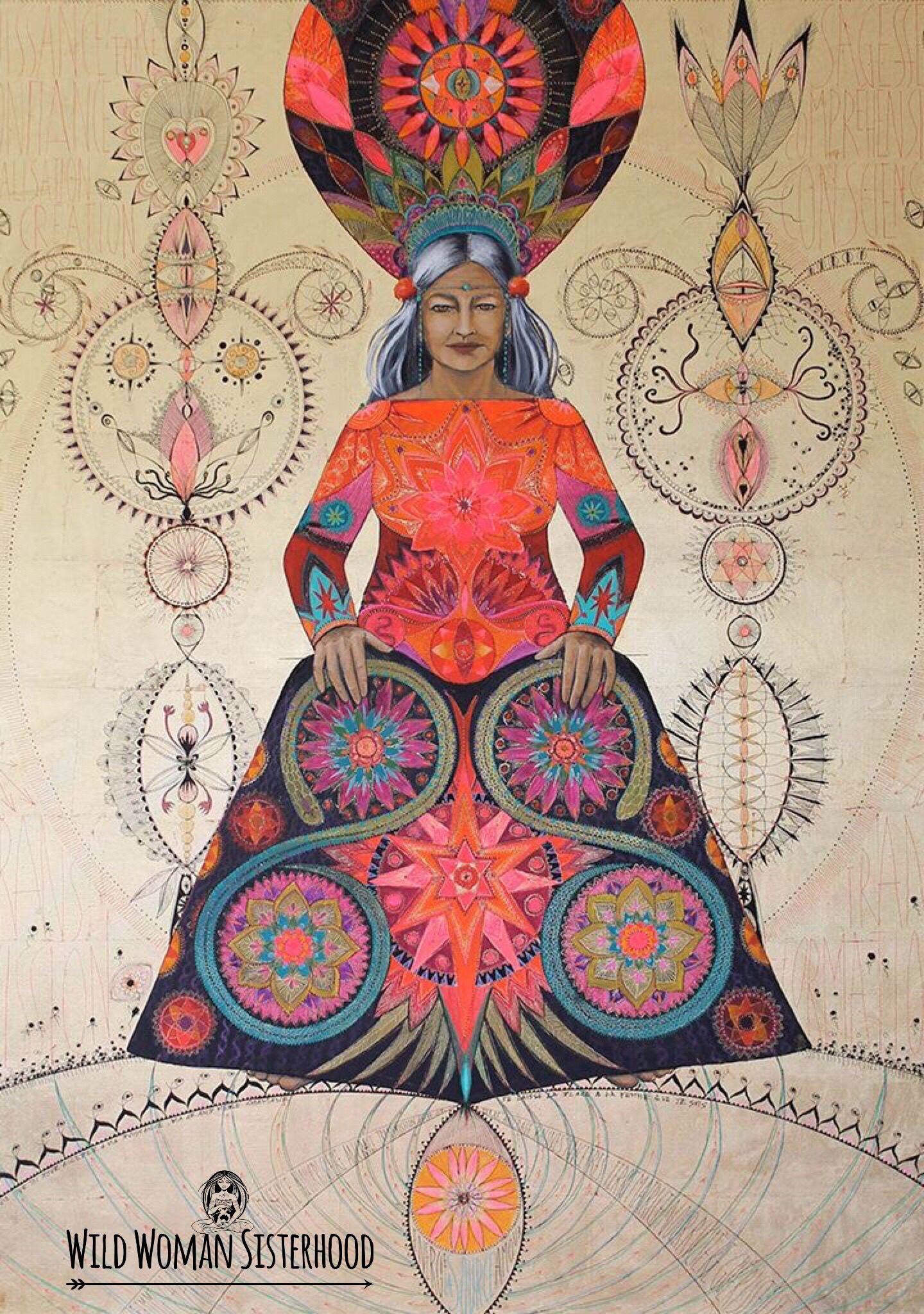 Medicine Woman Tarot By Carol Bridges: A Gypsy 'Drabarni' Is A Shaman, Medicine Woman Shape