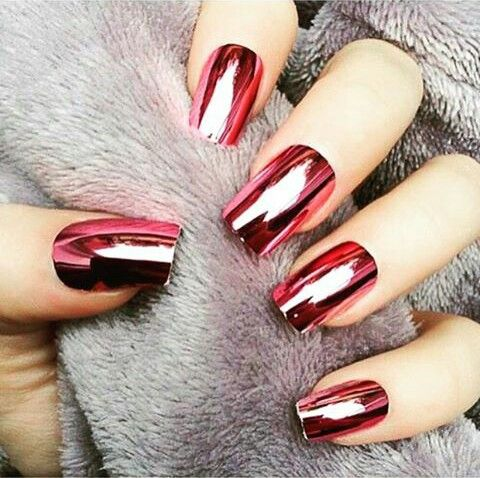 Efecto espejo nails pinterest dise os de u as - Pintaunas efecto espejo ...