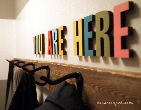 Make Your Own Coat Rack And Welcome Art House Confetti I Love The Cool How To Make Your Own Coat Rack