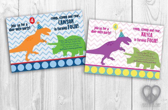 Boys or girls dinosaur party 5x7 printable birthday invitation boys or girls dinosaur party 5x7 printable birthday invitation filmwisefo