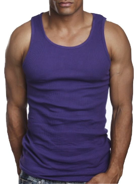 Top Quality 100% Premium Cotton Mens A-Shirt Wife Beater Ribbed ...