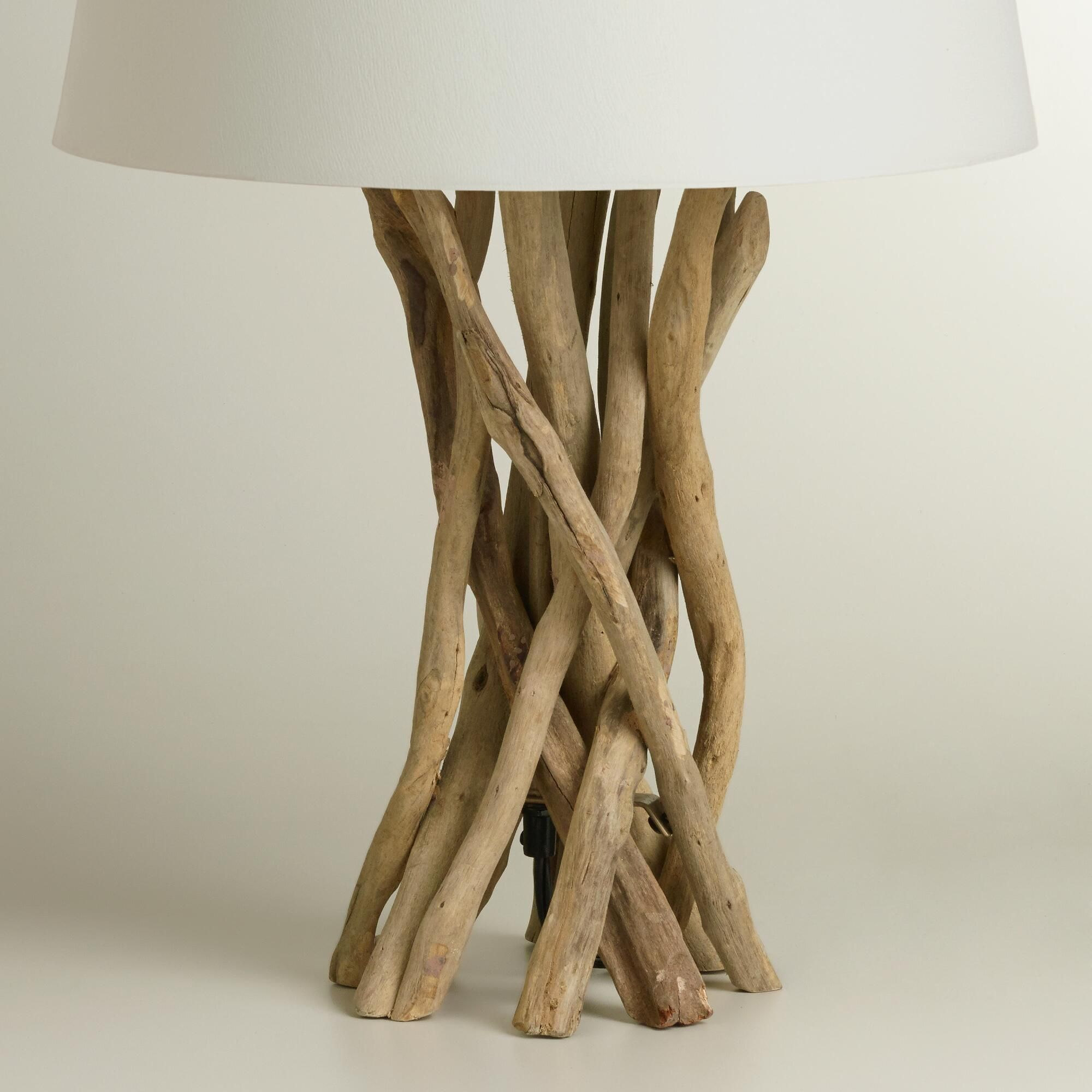 Our exclusive Driftwood Table Lamp Base is intricately hand